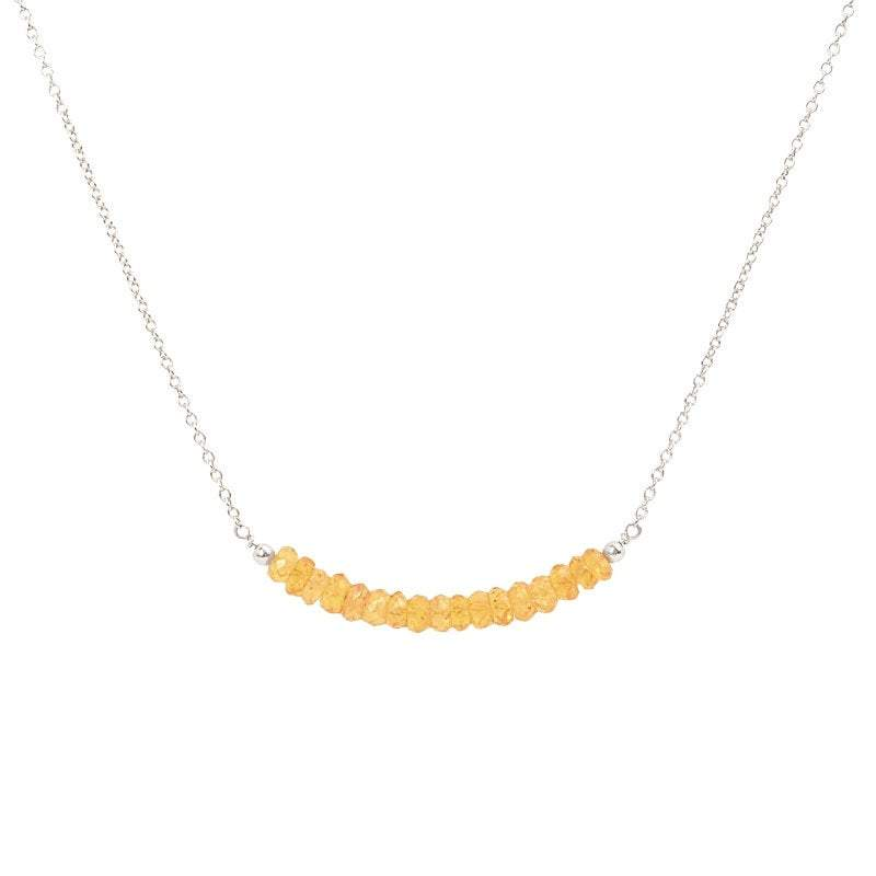 Mandarin Garnet Bar Necklace - Spessartine - Boutique Baltique