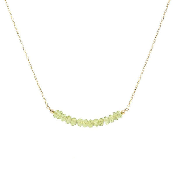 Peridot Bar Necklace - Boutique Baltique