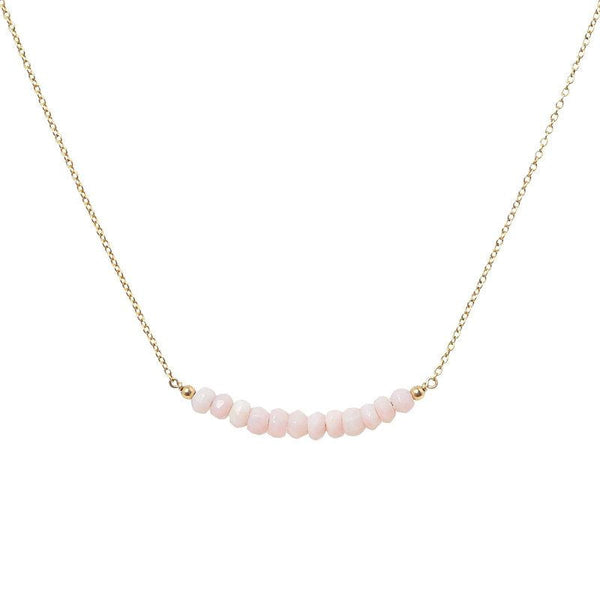 Pink Opal Bar Necklace - Boutique Baltique