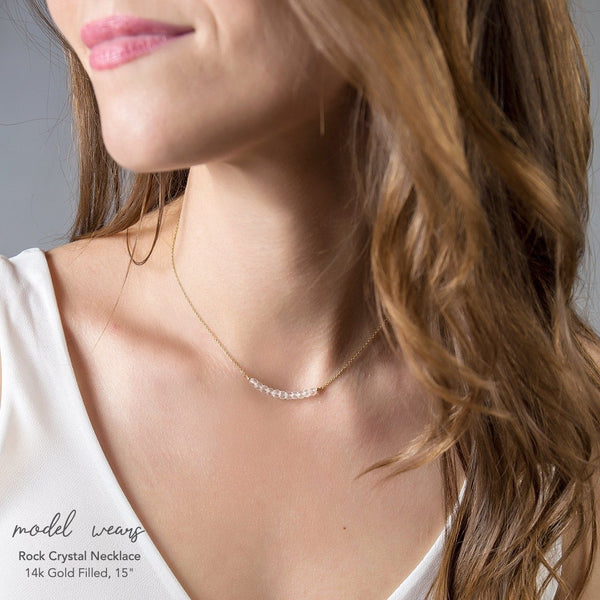Rock Crystal Bar Necklace - Boutique Baltique