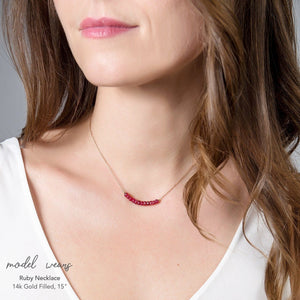 Ruby Bar Necklace - Boutique Baltique