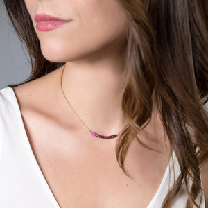 Ombre Ruby Bar Necklace - Boutique Baltique