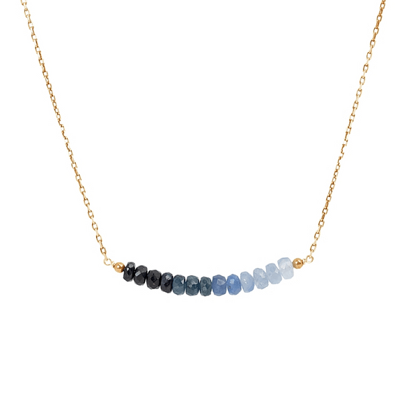 Sapphire Bar Necklace - Ombre - Boutique Baltique