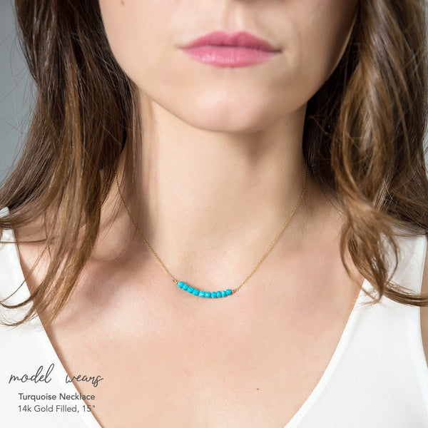 Turquoise Bar Necklace - Boutique Baltique