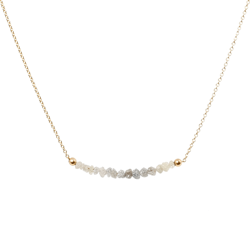 White Diamond Bar Necklace, Salt&Pepper - Boutique Baltique