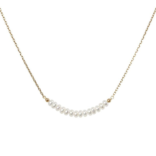 White Freshwater Pearl Bar Necklace - Boutique Baltique