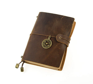 Genuine Leather Journal Travelers Notebook, Diary, Refillable & Handmade Vintage Personalized Gifts