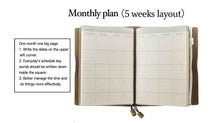 Load image into Gallery viewer, Leather Journal Planner Organizer Academic Monthly Calendar Daily Bill Organizer