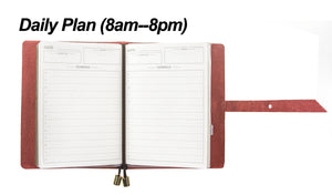 [Planner-Small] Leather Journal Planner Organizer - Academic Monthly Calendar & Daily & Bill Organizer