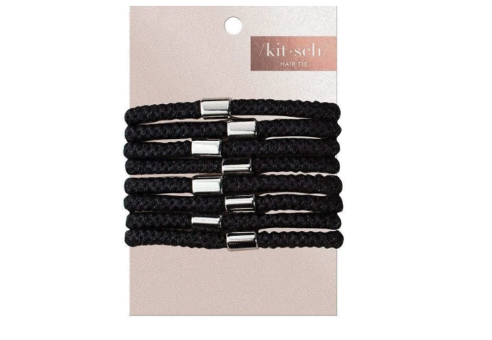 Perfect Ponytail Hair Ties (All Black)