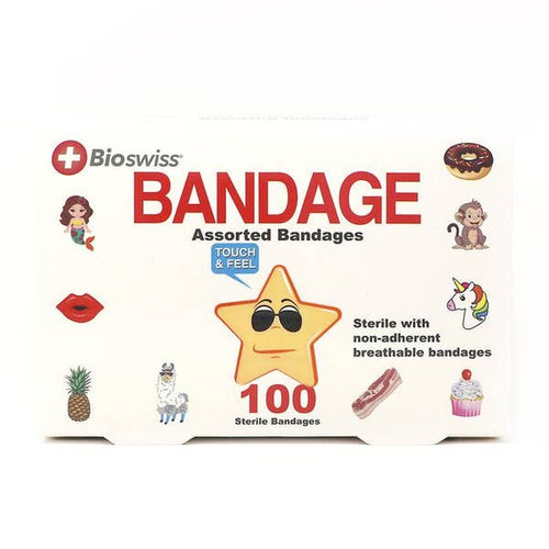 Pack of 100 Assorted Bandages