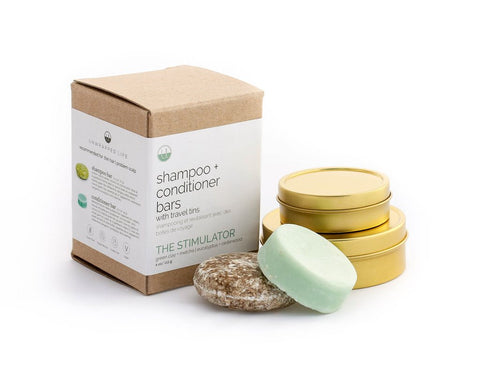 Shampoo + Conditioner bars w/ travel tins!