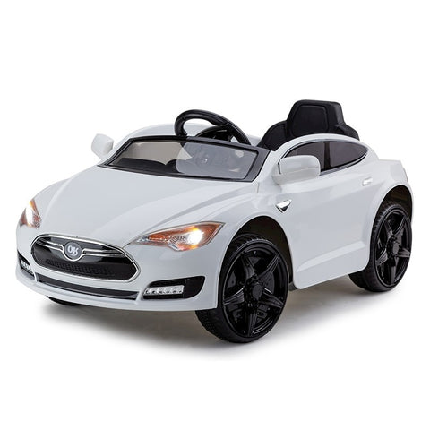 Kids White Electric Ride On Car With Remote Control Vinnsmart