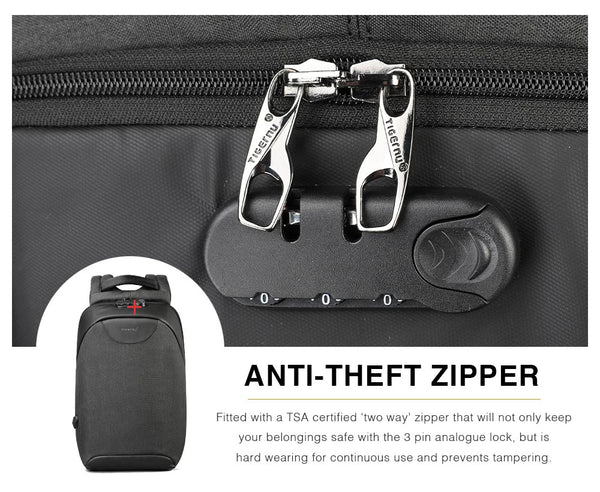 Laptop Backpack Anti-Theft Zipper