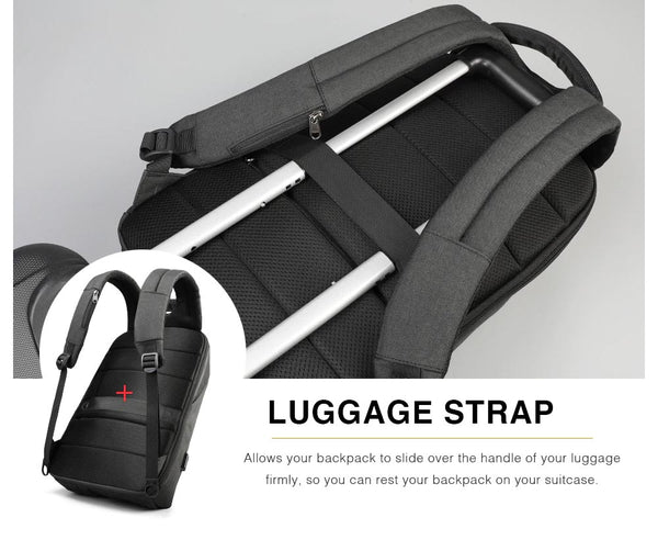 Laptop Backpack with Luggage Strap