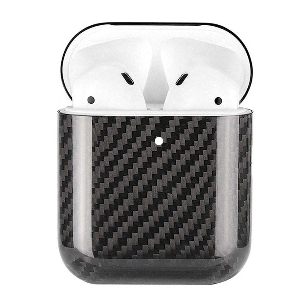 Black Carbon Fiber Airpods Case Cover