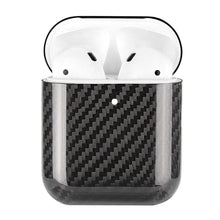 Load image into Gallery viewer, Black Carbon Fiber Airpods Case Cover