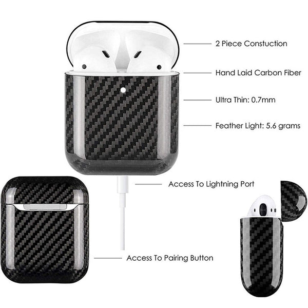 70264fc912e ... Features Of Carbon Fiber Airpods Case Cover ...