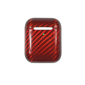 Red Carbon Fiber Airpods Case Cover