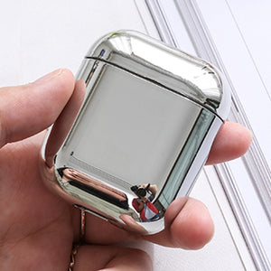 Luxury Gold & Silver Metallic Plated AirPods Case Cover