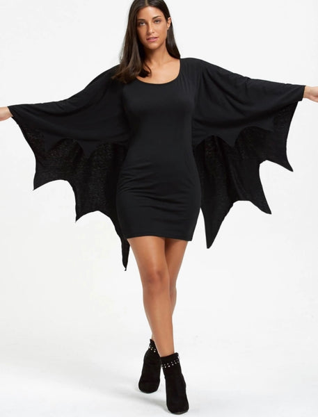 Bat Wing Mini Dress - Gothic and Alternative Apparel & Accessories