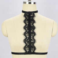 Lace Choker Harness - Gothic and Alternative Apparel & Accessories