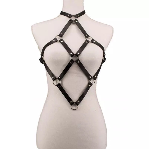 Faux Leather Armor Harness - Gothic and Alternative Apparel & Accessories