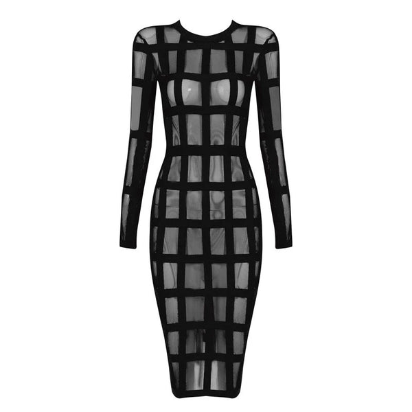 Succubus Cage Midi Dress - Gothic and Alternative Apparel & Accessories
