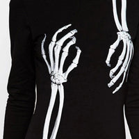 Gothic Skeleton Bone Hands Dress - Gothic and Alternative Apparel & Accessories