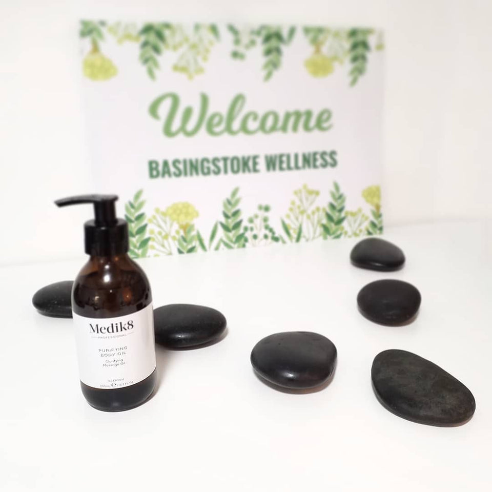 Hot Stone Massage Stones and Aromatherapy Oil