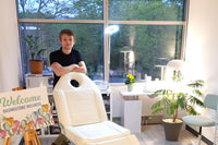 Joshua Burniston, Head Therapist, in our treatment room.