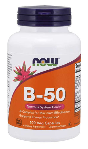NOW Vitamin B-50 100 veg capsules