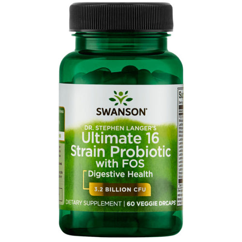 Swanson Ultimate 16 Strain Probiotic with FOS 60 Veg DRcap