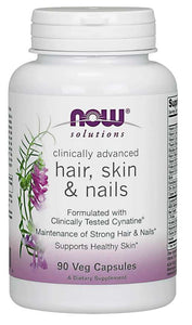 NOW Hair, Skin & Nails 90 Veg Capsules