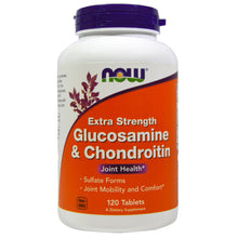 Load image into Gallery viewer, NOW Glucosamine & Chondroitin Extra Strength 120 tablets