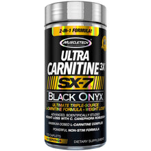 Load image into Gallery viewer, MuscleTech Ultra Carnitine 3X SX7 Black Onyx 120 caplet
