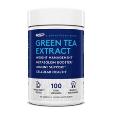 Load image into Gallery viewer, RSP Nutrition Green Tea Extract 100 capsules