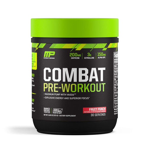 MusclePharm Combat Pre-Workout 30 servings (clumpy condition)