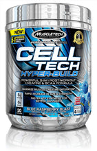 Load image into Gallery viewer, MuscleTech Cell Tech Hyper-Build 30 Servings Blue Raspberry