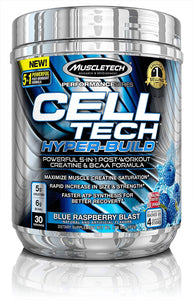 MuscleTech Cell Tech Hyper-Build 30 Servings Blue Raspberry