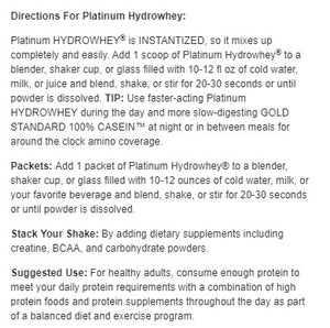Optimum Nutrition Platinum HydroWhey 3.5 lbs
