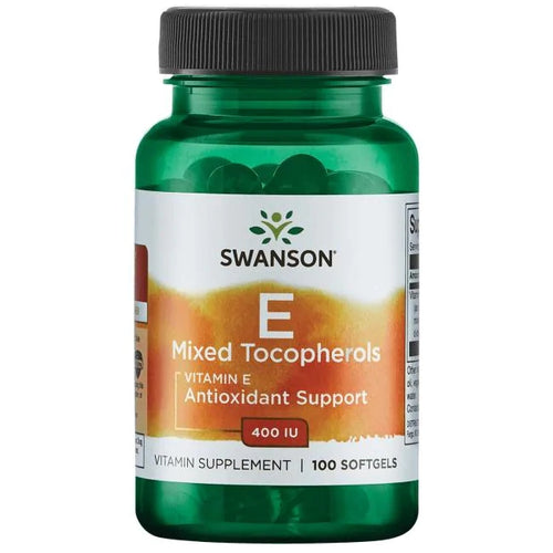 Swanson Vitamin E Mixed Tocopherols 100 Softgels