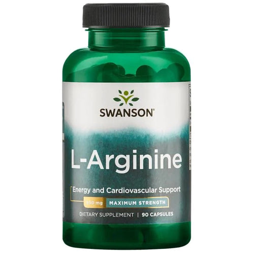 Swanson L-Arginine - Maximum Strength 90 Capsules