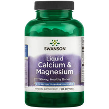 Load image into Gallery viewer, Swanson Liquid Calcium & Magnesium 100 Softgels