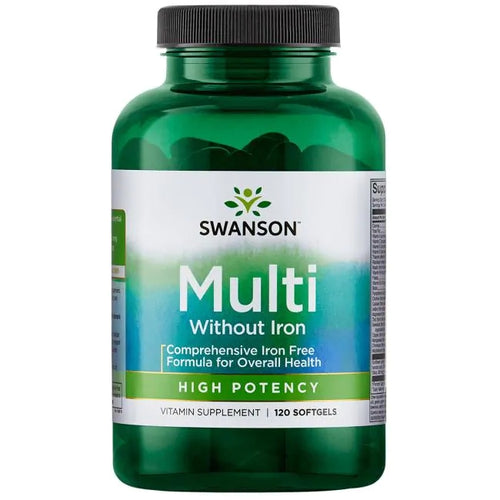 Swanson Multi without Iron - High Potency 120 Softgels