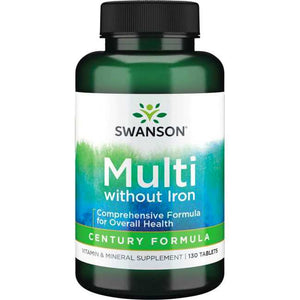 Swanson Multi without Iron - Century Formula 130 Tablets