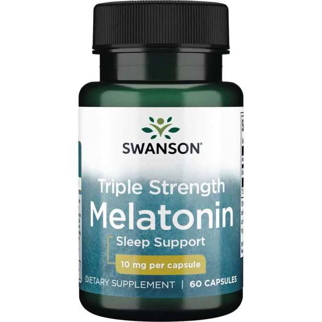 Swanson Triple Strength Melatonin 10mg 60 capsules