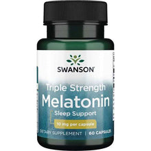Load image into Gallery viewer, Swanson Triple Strength Melatonin 10mg 60 capsules