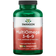 Load image into Gallery viewer, Swanson MultiOmega 3-6-9 (Flax, Borage, Fish) 120 Softgels