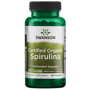 Swanson Certified Organic Spirulina 180 Tablets
